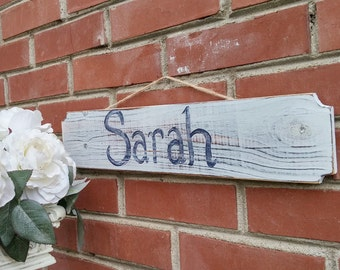 PERSONALIZED Shabby Chic - Rustic Hanging Name Sign