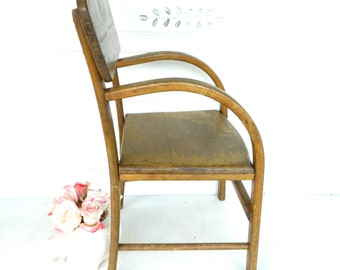 Vintage Childs Chair Wood Bentwood Primitive