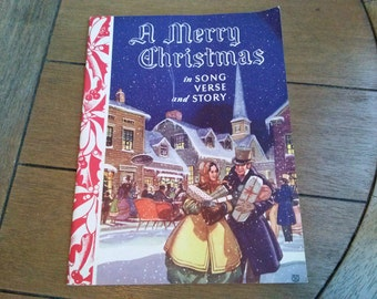 A Merry Christmas in Song Verse and Story Rubank, Inc. Miami, Fla. Vintage Christmas Songbook