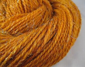 PUMPKIN - Handspun Merino Wool and Angelina Yarn, 188 & 290 yards