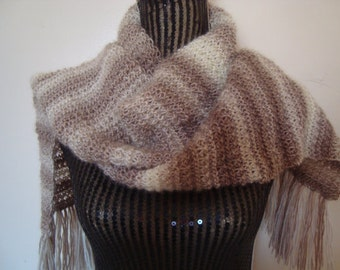 Knitting  pattern PDF- Cappuccino Ombre Scarf-Download PATTERN -Diy-Online PDF Knitting Patterns-Level Easy