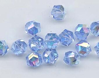 12 pc vintage Swarovski crystals - Art. 371/5007 - 8 mm - light sapphire AB