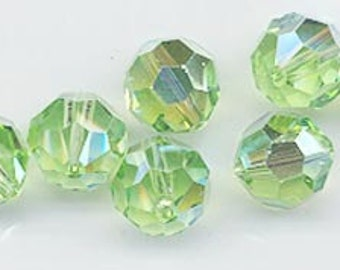 "Twelve ""out of program""  Swarovski crystals - Art. 5000 - 8 mm - peridot AB"
