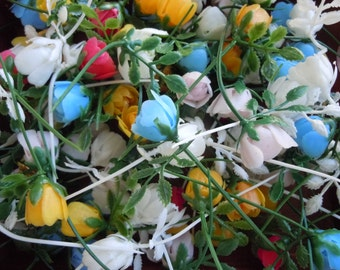 100 assorted artificial flowers plastic flowers