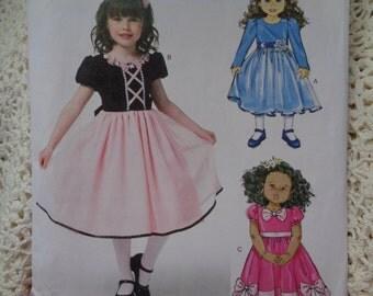 Children's/Girls' Dress, Butterick Sewing Pattern B5810, Size 6-8, Easy Pattern, Easy Dress Pattern, Dress, Uncut Pattern