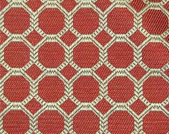 Red Octagon Jaquard Geometric Pillow Covers in Dax Bittersweet Designer Fabric