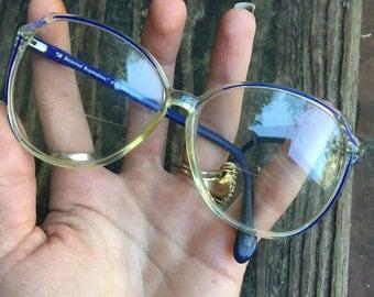 Gorgeous vintage blue eyeglasses glasses frames oversized