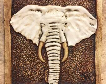 Ceramic Elephant Head Tile