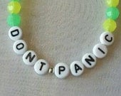 Don't Panic Bracelet - Yellow and Green