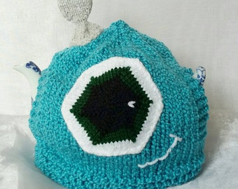 Small Frankenstein's Monster Tea Cosy - Turquoise - Fits 4 Cup Teapot