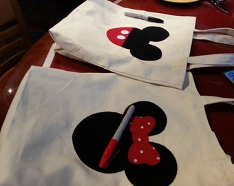 Inspired by Disney Autograph book tote inspired by Disney souvenir theme park character shirt Minnie shirt Mickey shirt First Disney Trip