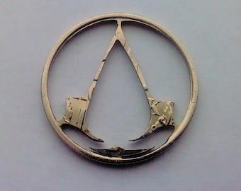 Coin cut  charm. Assassins Creed insignia 20 kopeck USSR