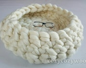 Pets bed or Dogs bed, cats bed, made of natural  wool. Very  soft  and cozy. Modern home pets bed.