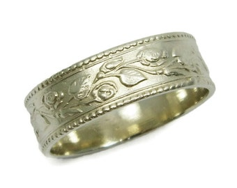 Floral wedding band Etsy