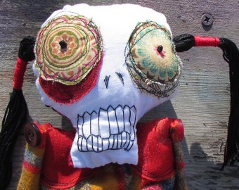 Shelly the skelly ooak art doll skeleton