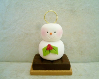 S'more - Polymer Clay - Holiday Ornament
