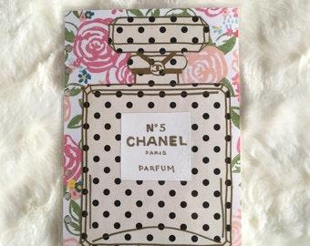Floral Polka Dot Chanel Bottle Dashboard | Filofax Stationary