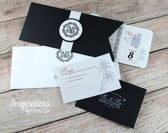 Boarding Pass Wedding Invitations, Boarding Pass, Destination Wedding Invitations, Wedding Invitations