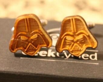 Star Wars cufflinks// laser cut cufflinks// Character cufflinks// Star Wars  // Darth Vader, Storm Trooper, R2D2, Boba Fett