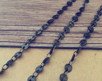 2m (6.6ft ) Antique bronze (copper)  pendant chains 4mm