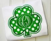 St.Patrick's Day Shirt-St.Patrick Day Shirt-St.Patrick Applique-St Patrick Day Applique Shirt-Shamrock-Irish-Shamrock Shirt-Four Leaf Clover