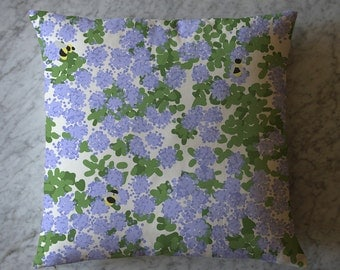 Pillow with Purple Flowers and Bumble Bees. March 18, 2014