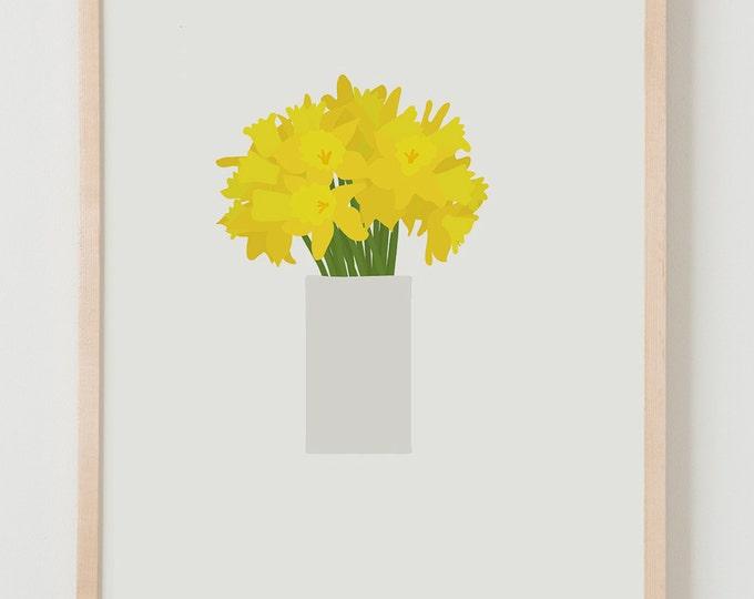 Fine Art Print.  Bouquet of Daffodils. March 14, 2016.