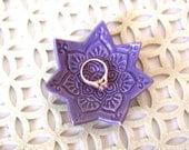 Lavender Ring Holder - Purple Trinket Dish - Handmade Boho Jewelry Bowl - Modern Bohemian Decor - Engagement Ring Holder - Jewelry Storage