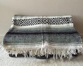 Vintage Mexican Blanket, Falsa Blanket, Aztec Throw