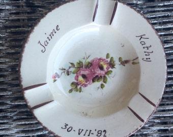 Wedding Souvenir Ashtray from 1982