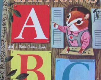 ON SALE Richard Scarry's Chipmunk's ABC -  Vintage Little Golden Book - 1972 edition