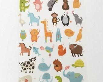 Plastic Flocking Tape Sticker, DIY Cloth Art Manual Cloth Decoden Figure Hot Plated Backing Painting - Animal 1Pcs  (ST60)