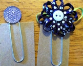 Set of 2 bookmarks-planner clips PURPLE