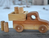 Old Fashioned Milk Truck, Redwood Heirloom Truck, Handmade