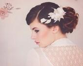Decorative wedding Hair Comb. Bridal Headpiece. Wedding Haircomb, Bridal Flower vine, Bridal Hairvine, The Mona Flower Hairvine #147