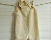 Vintage Overalls, Boys Vintage Overalls, Pants, 1970s Yellow Overalls, 18 Months Size Overlls, Yellow Pants, Boys Handmade Vintage Pants