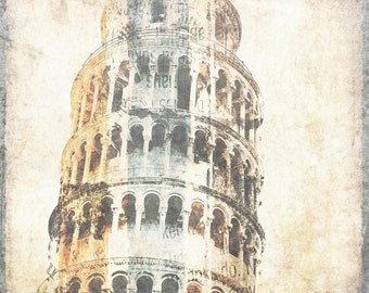 """Tower of Pisa. Canvas Print by Irena Orlov 40x30"""""""