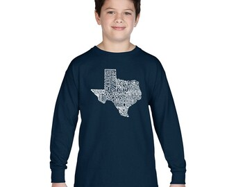 Boy's Long Sleeve T-shirt - The Great State of Texas