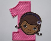 Doc McStuffins applique patch/ birthday numbers/little girl number patch/ iron on patch/ sew on patch/ embroidered patch