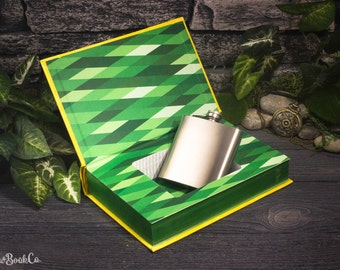 Hollow Book Safe & Hip Flask - The Wizard of Oz (LEATHER-BOUND) – Modern Classic – Hollowed Out Book – Magnetic Snap Closure