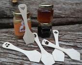 Wooden spatula - Sugar maple paddle -  Handmade spreader - Cosmetic spatula