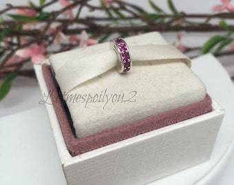 Authentic Pandora Eternity Ruby Spacer charm