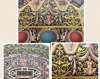 1877 L'Ornement Polychrome Decorative Antique Chromolithograph Gilt RENAISSANCE Decor Print RACINET