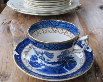 Booths 'Real old Willow' vintage china tea cup and saucer set