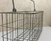 Vintage Large Rusty Metal Baskets Heavy Metal Wire Basket Organizer