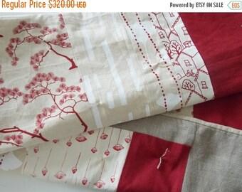 HURRY FLASH SALE Modern Hemp Quilt - Screen Print Quilt - Organic Baby Quilt