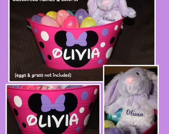 Personalized Easter Basket AND Bunny - DISNEY