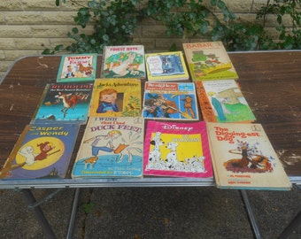 12 vintage childrens books