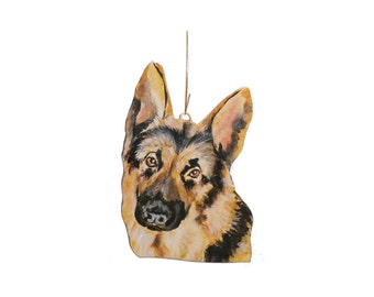 German Shepherd Dog Christmas Ornament