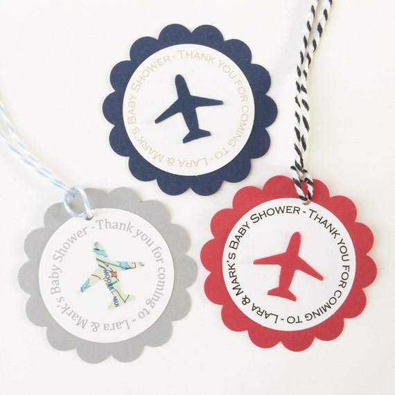 Airplane Birthday Party Favor Tags: Items Similar To Personalized Airplane Party Favor Tags